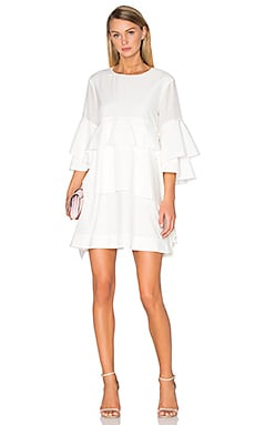 Acler Foley Silk Blend Dress in Ivory