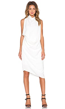 Acler Hartland Drape Dress in Ivory