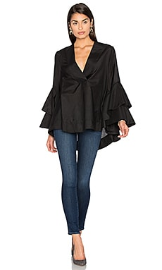 Foley Silk Blend Top in Black