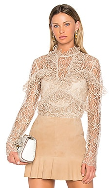 Elan Lace Blouse in Buff