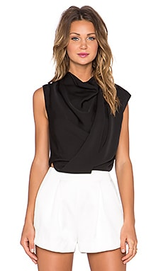 Acler Hartland Drape Top in Black