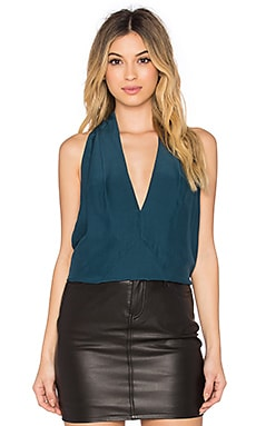 Acler Nicholson Silk Top in Hunter Green