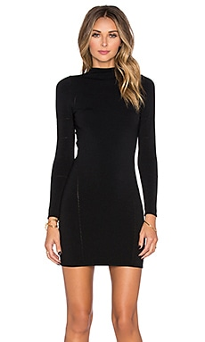 Central Park West Fresno Long Sleeve Mini Dress in Black