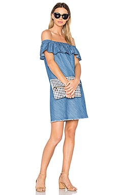 Santa Cruz Off Shoulder Dress in Denim