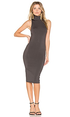 Atlantis Bodycon Midi Dress in Charcoal