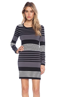 Central Park West Noho Bodycon Dress in Stripe