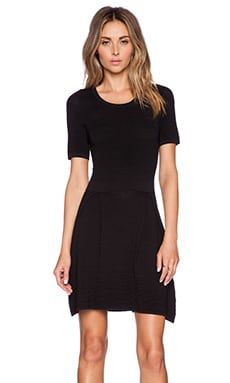 Central Park West Fresno Fit & Flare Dress in Black