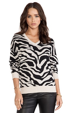 Central Park West Catskill Sweater in Natural Zebra