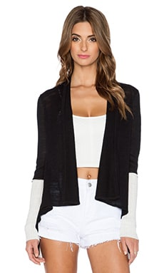 Central Park West Hydra Cardigan in Black & White