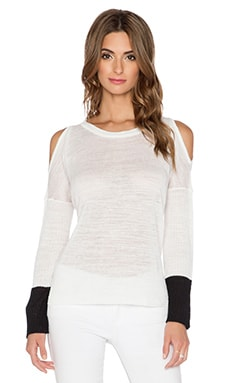 Central Park West Hydra Pullover in White & Black