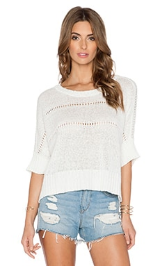 Central Park West Antwerp Pullover in White