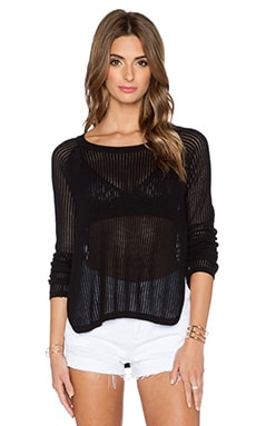 Central Park West Bodrum Pullover in Black