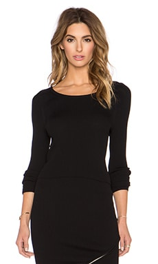 Central Park West Queensland Sweater in Black