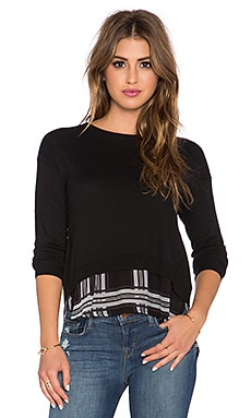 Cambridge Layered Sweater in Black Plaid