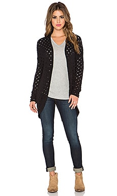 Central Park West Quito Drop Shoulder Cardigan in Black