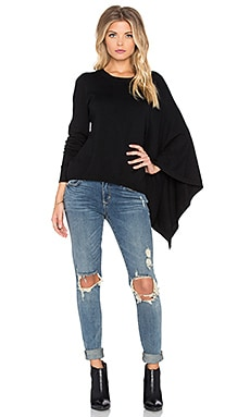 Central Park West Pomona Asymmetrical Sweater in Black