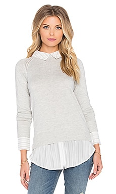 Central Park West Oakland Shirt Sweater in Grey & Stripe