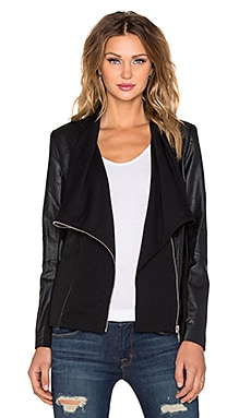 Central Park West Paraguay Drape Cardigan in Black