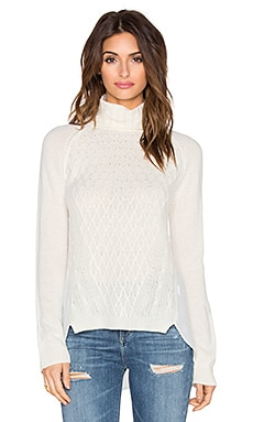 Central Park West Tacoma Turtleneck Sweater in White