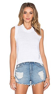 Tava Sleeveless Sweater in White