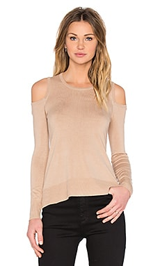 Provence Cold Shoulder Sweater in Khaki