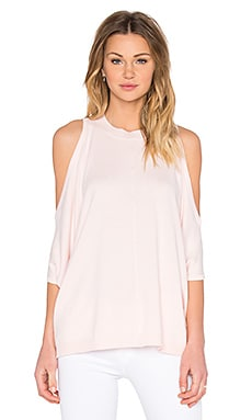 Central Park West Provence Cold Shoulder Poncho in Pink
