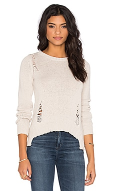 Central Park West Tava Crew Neck Sweater in Stone