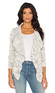 Oahu Drape Front Cardigan in Grey Marled