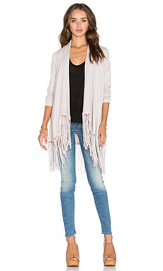Central Park West Auckland Fringe Cardigan in Pearl