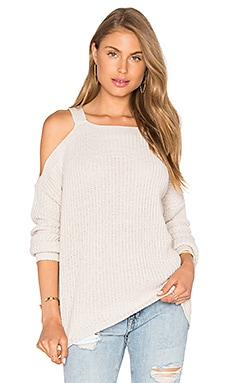 Hampton Cold Shoulder Sweater in Stone