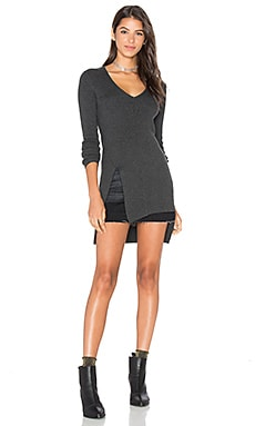 Lucerne V Neck Sweater in Charcoal