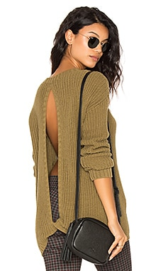 Hampton Open Back Sweater in Olive