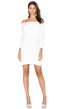 Modena Off Shoulder Sweater in White
