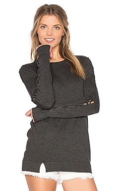 Cambridge Lace Up Bell Sleeve Sweater