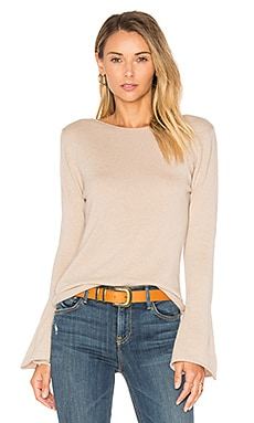 Vienna Cashmere Bell Sleeve Sweater in Jute