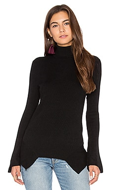 Brighton Bell Sleeve Turtleneck Sweater in Black