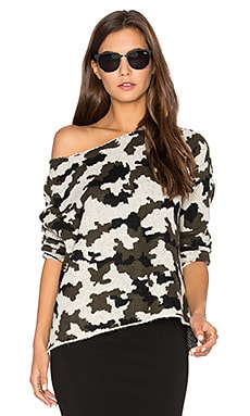 Camo Sweater in Black