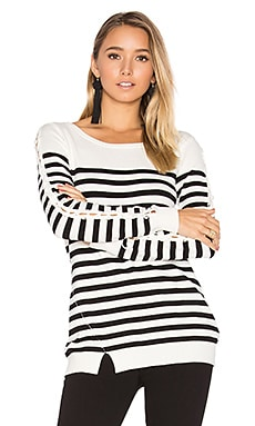 Baton Rouge Stripe Sweater in Ivory & Black