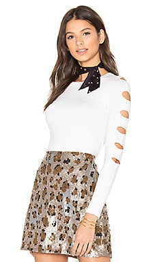 Palm Springs Cut Out Sweater in White