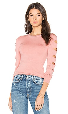 Palm Springs Cut Out Sweater in Salmon
