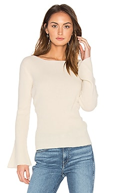 Salzburg Pullover Cashmere Sweater in Winter White