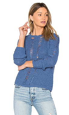 Carmel Crop Sweater in Indigo