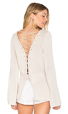 Galveston Cross Back Sweater in Stone