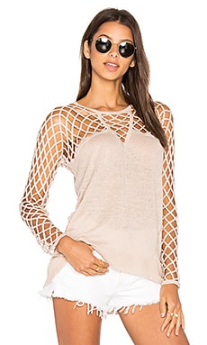 Aurora Open Knit Sweater in Nude