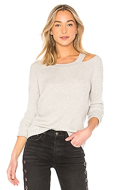 Clover Cut Out Ruffle Sweatshirt in Blush. - size L (also in M,S,XS) Central Park West