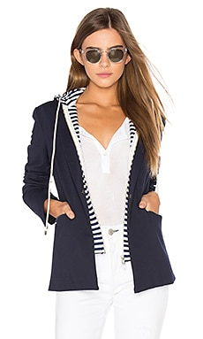 Savannah Hooded Blazer em Navy