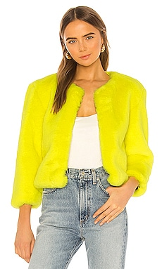 Miami Faux Fur Chubbie Jacket Central Park West $152