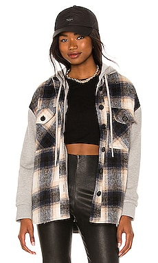 Fanning Plaid Dickie Shacket Central Park West $260