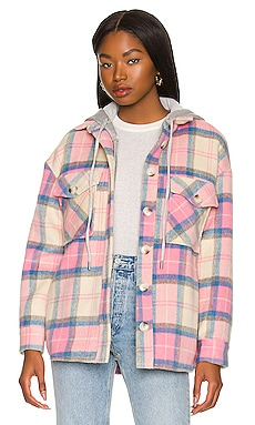 Ryder Plaid Dickie Shacket Central Park West $284 NEW
