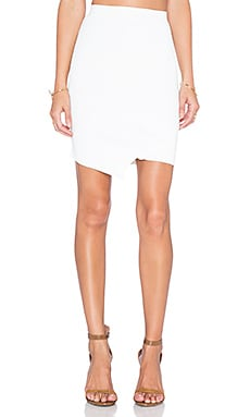 Central Park West Queensland Asymmetrical Skirt in White